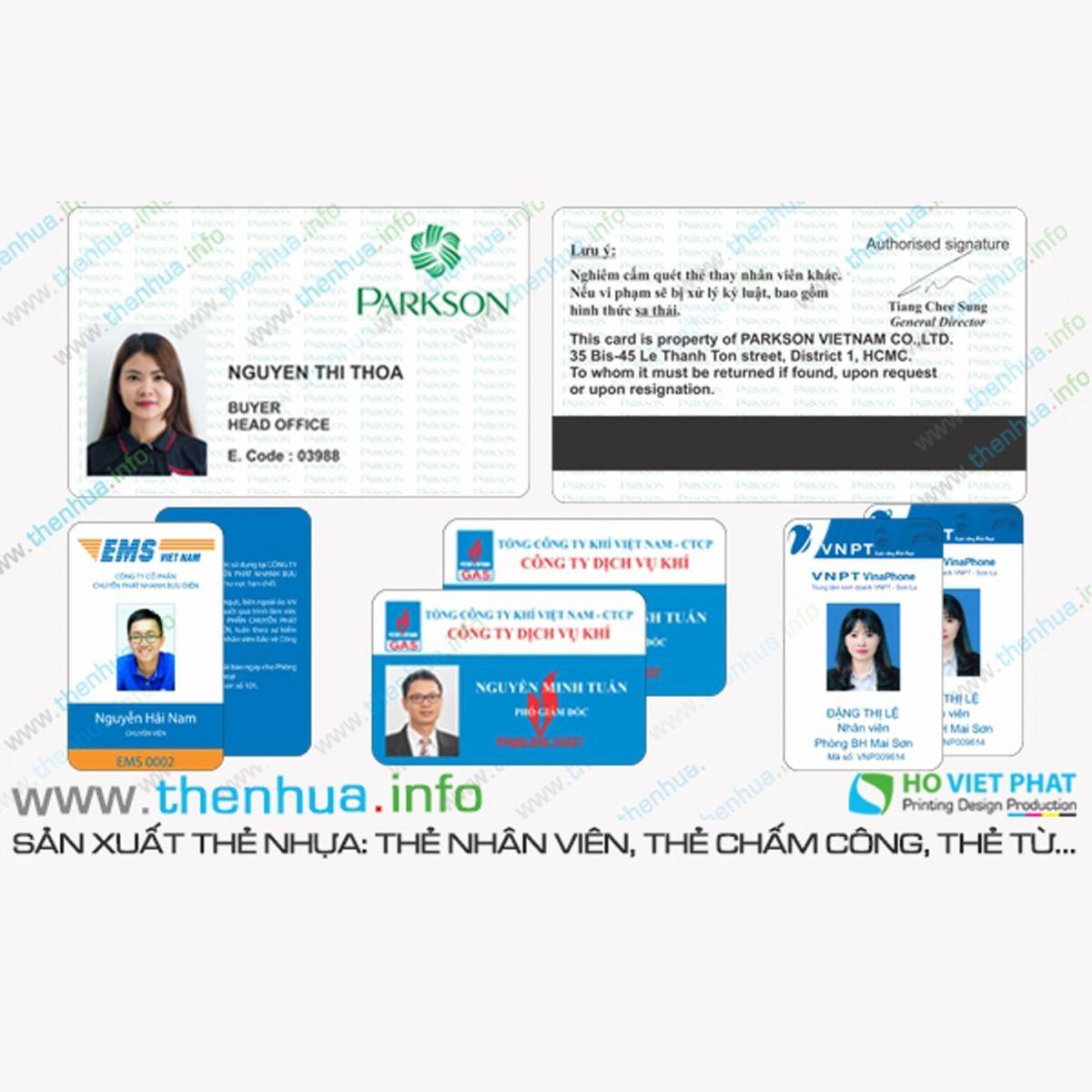 Sản xuất mẫu thẻ nhân viên, thẻ công chức viên chức