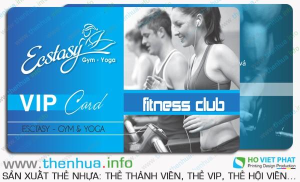 Sản xuất thẻ vip cho phòng gym, yoga tại Sài Gòn lấy liền
