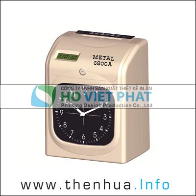 Máy chấm công thẻ giấy METAL 6800A & METAL 6800N