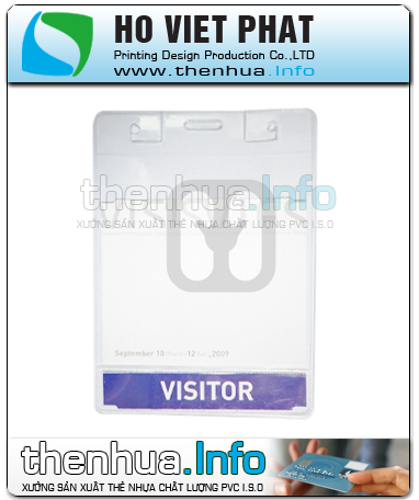 Bao đeo thẻ nhựa, dùng trong hội chợ, triển lãm thương mại, event.